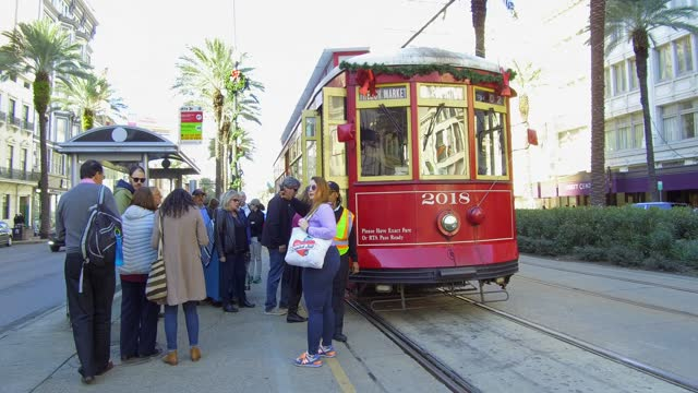people traveling in a trolley bus. as early as 1940, new orleans public service, inc. began to transition routes formerly served by streetcars to... - trolley bus stock videos & royalty-free footage