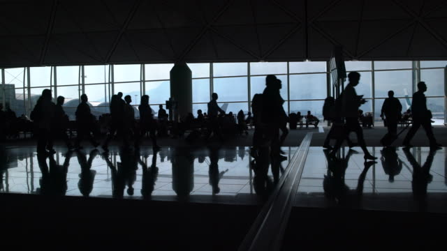 WS People travelling through the airport, Hong Kong