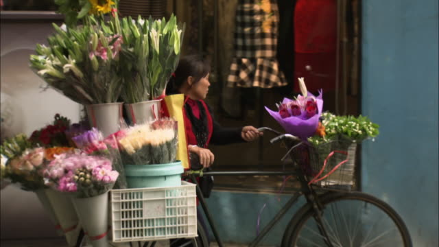 people using bicycles in shanghai - choice stock videos & royalty-free footage