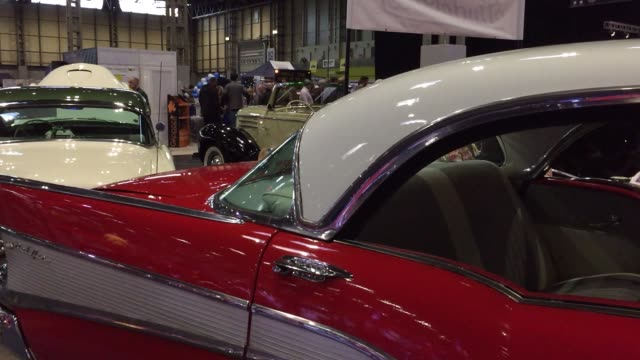 people view some of the classic cars that are being displayed on the first day of the lancaster classic motor show at the nec birmingham on november... - classic car stock videos and b-roll footage
