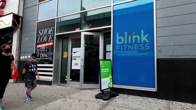 stockvideo's en b-roll-footage met people visit a newly reopened blink fitness in harlem as the city continues phase 4 of reopening following restrictions imposed to slow the spread of... - new jersey