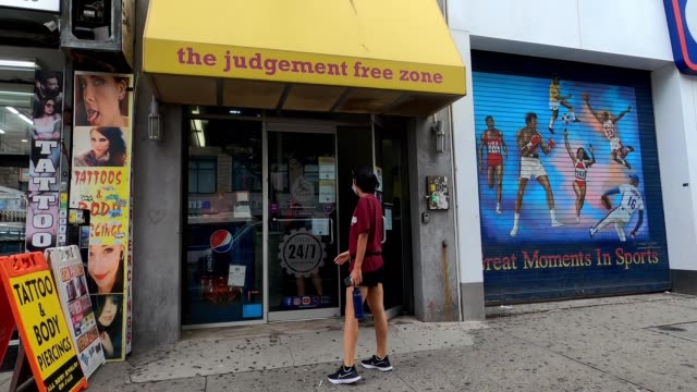 people visit a newly reopened planet fitness in harlem as the city continues phase 4 of reopening following restrictions imposed to slow the spread... - manhattan new york city stock videos & royalty-free footage