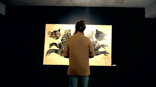 people visit an exhibition - museum stock videos & royalty-free footage