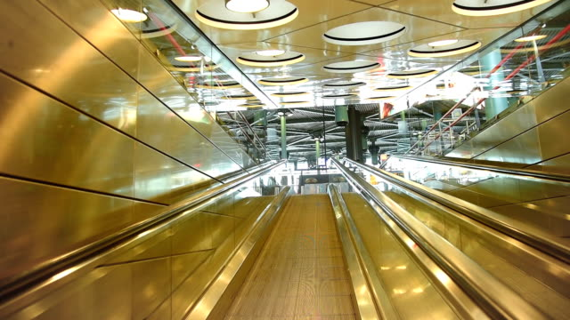 people visit departure hall in international schiphol airport at day time - tourism stock videos & royalty-free footage