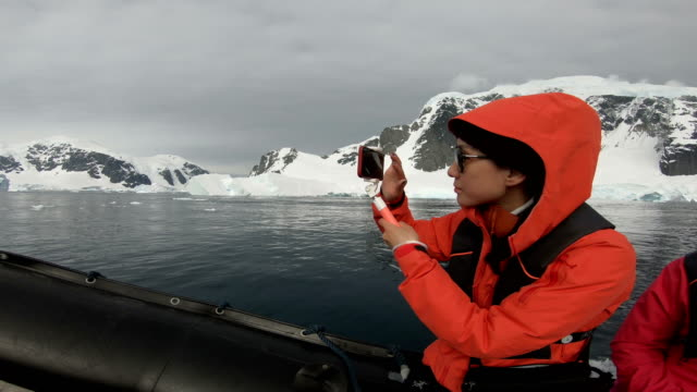 people visit the antarctic coastline - antarctica research stock videos & royalty-free footage