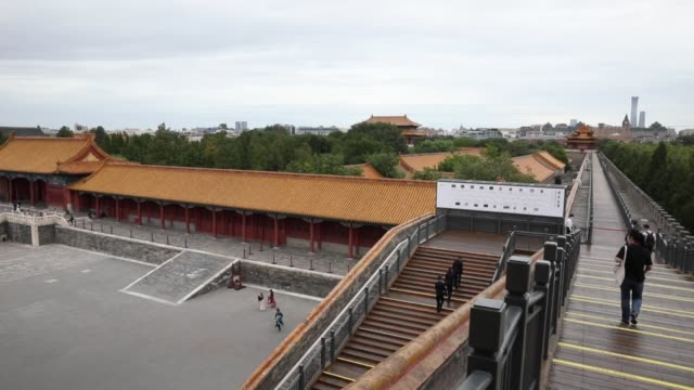 people visit the forbidden city on september 10, 2020 in beijing, china. - forbidden city stock videos & royalty-free footage