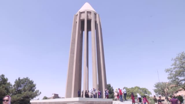 people visit the mausoleum of the famous 11th century muslim physician astronomer and philosopher ibn sina during a tour organized within the hamedan... - mausoleum stock videos and b-roll footage