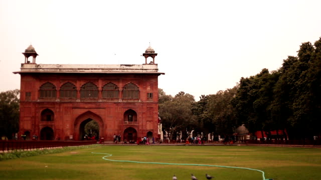people visit the red fort in delhi, india - delhi stock videos & royalty-free footage