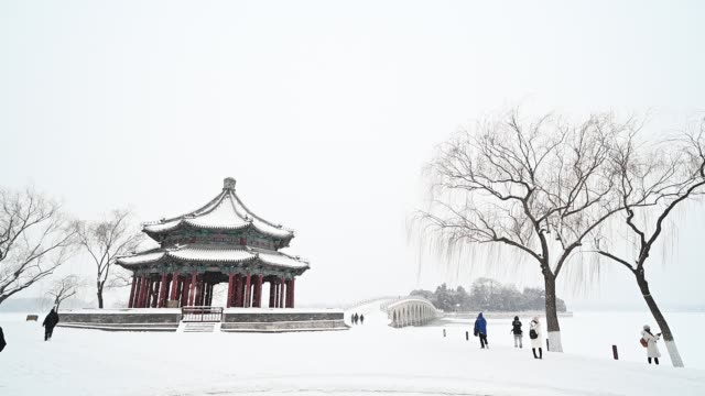 people visit the summer palace on february 6 2020 in beijing china - summer palace beijing stock videos & royalty-free footage