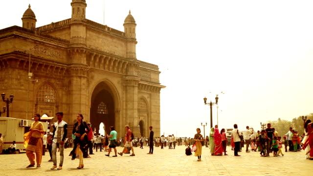 people visit to gateway of india, mumbai - gate stock videos & royalty-free footage
