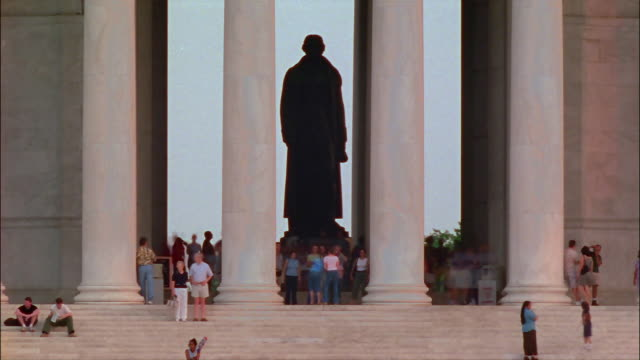 MS, T/L, People visiting Jefferson Memorial, Washington DC, USA