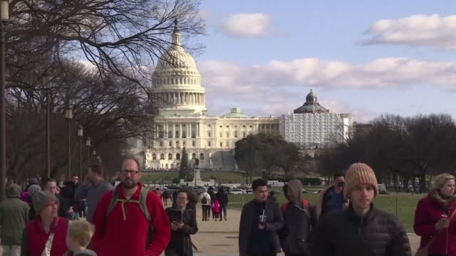 people visiting the national mall in washington dc react to the government shutdown as congress has failed to reach an agreement over the budget and... - congress stock videos & royalty-free footage