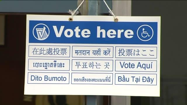 ktla people voting in los angeles - wahllokal stock-videos und b-roll-filmmaterial