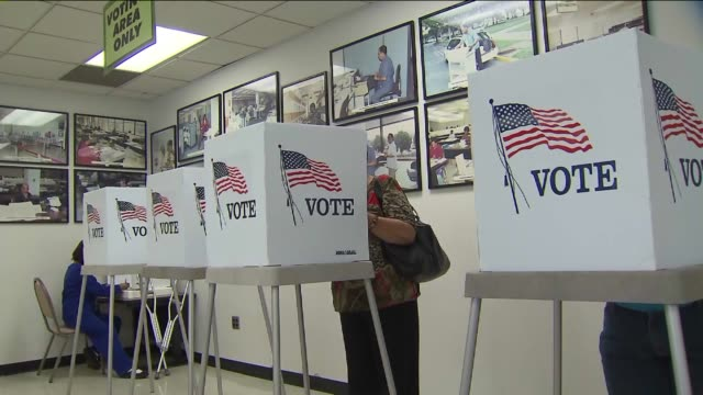 ktla people voting in los angeles - wahlschein stock-videos und b-roll-filmmaterial