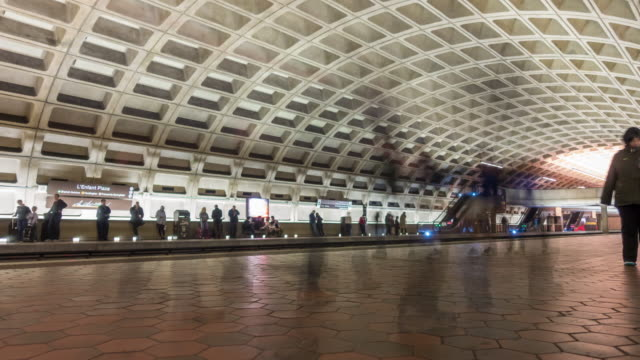 people waiting for train at metro station - washington dc stock videos & royalty-free footage