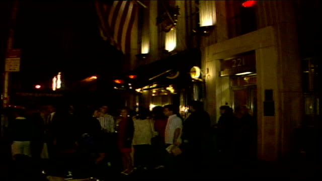 People waiting outside Hard Rock Cafe in NYC for the PostVMA party