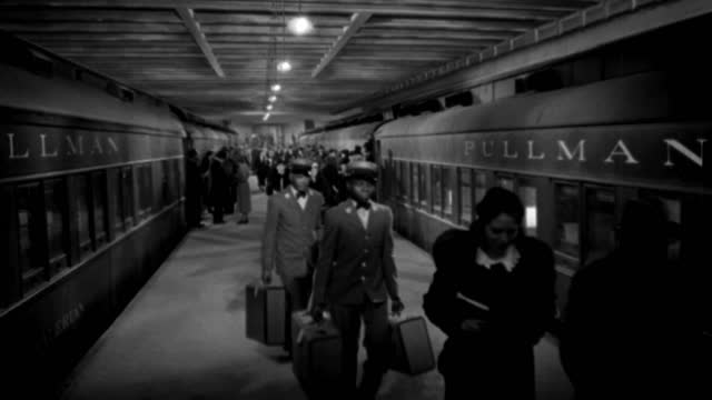 people walk along a platform of grand central station. - 1936 stock videos & royalty-free footage