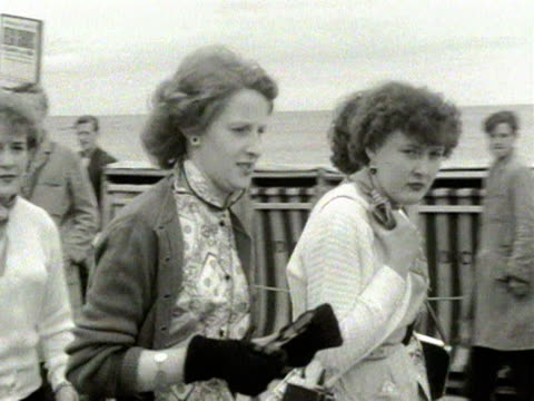 people walk along the promenade at douglas isle of man 1954 - isle of man stock videos & royalty-free footage