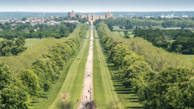 people walk and jog the long path to windsor castle on a warm sunny afternoon in windsor great park on may 17, 2020 in berkshire, england.the uk is... - anxiety stock videos & royalty-free footage