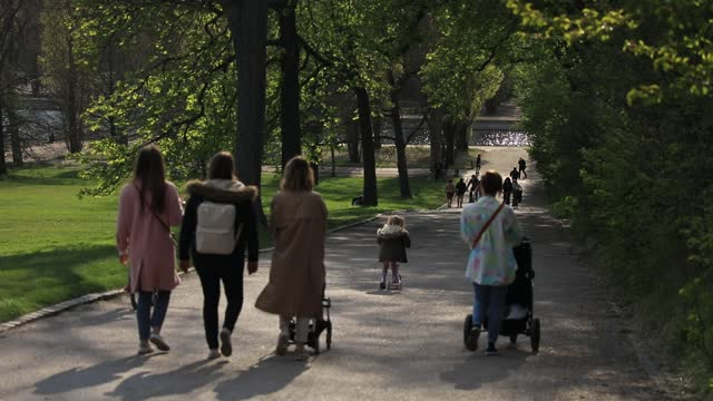 people walk in an alley of the parc de sceaux on april 17, 2021 in sceaux, france. in the hauts-de-seine, the domaine de sceaux is a must. this... - happiness stock videos & royalty-free footage