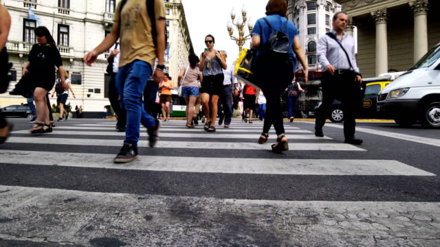 people walk in plaza de mayo, buenos aires - buenos aires stock videos & royalty-free footage