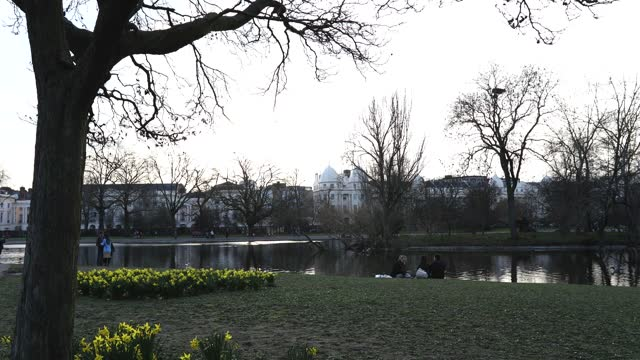 people walk in regents park on february 21, 2021 in london, united kingdom. after a surge of covid-19 cases, fueled partly by a more infectious... - the alphabet stock videos & royalty-free footage