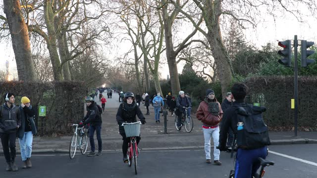 people walk in the park in regent's park during the third national lockdown, of the covid-19 pandemic on january 09, 2021 in london, england. with a... - walking stock videos & royalty-free footage