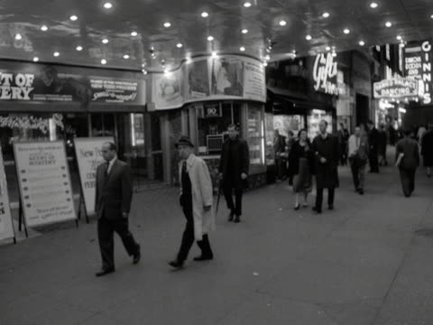 people walk past a cinema in new york 1959 - 1950 1959 stock videos & royalty-free footage