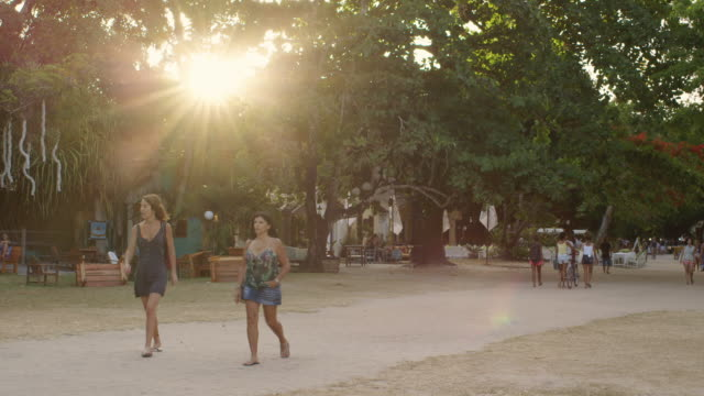 MS People walk through the quadrado in Trancoso / Trancoso, Brazil