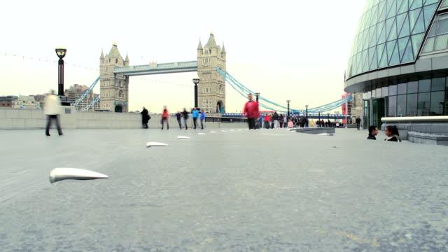 HD TIME LAPSE: People Walking Along Southwark