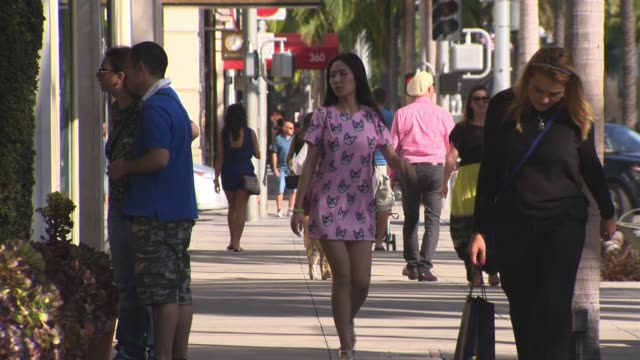 People Walking and Shopping in Beverly Hills