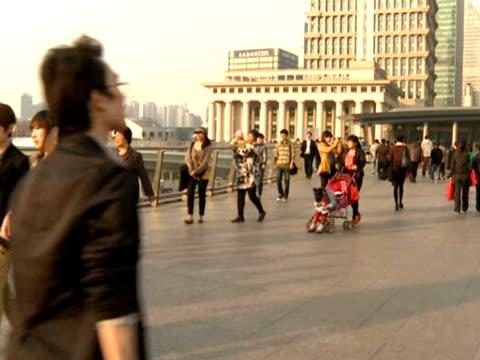 people walking around a pedestrianised area of shanghai. - number of people stock videos & royalty-free footage