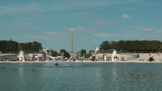 People walking at Place de la Concorde in Paris, France