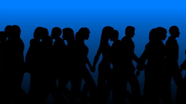 People Walking By (Vector Silhouette)