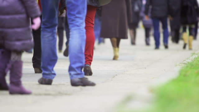 people walking, eastern europe - poland stock videos & royalty-free footage