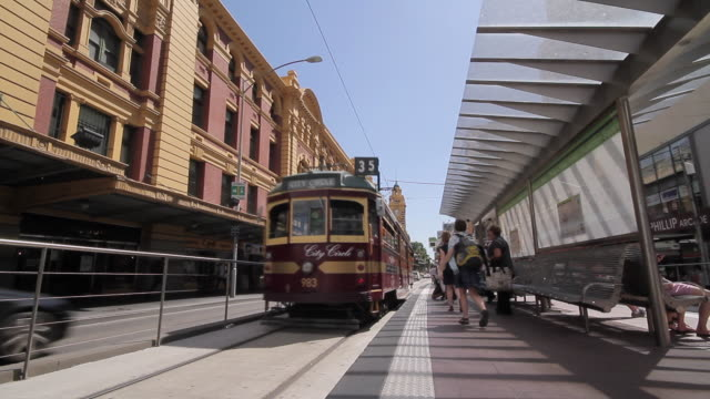 MS People walking for catch train / Melbourne, Victoria, Australia