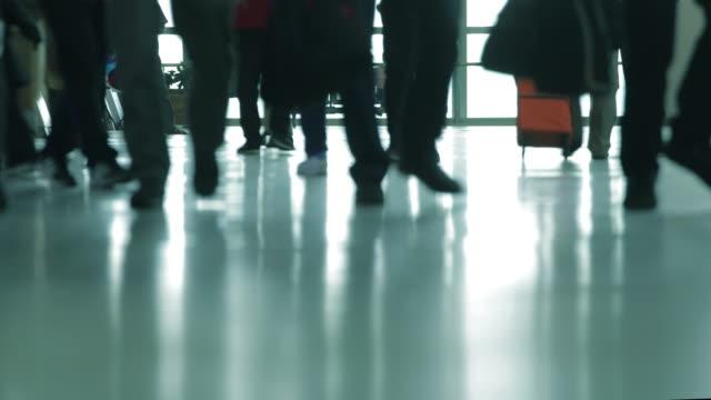 Passanten in Flughafen