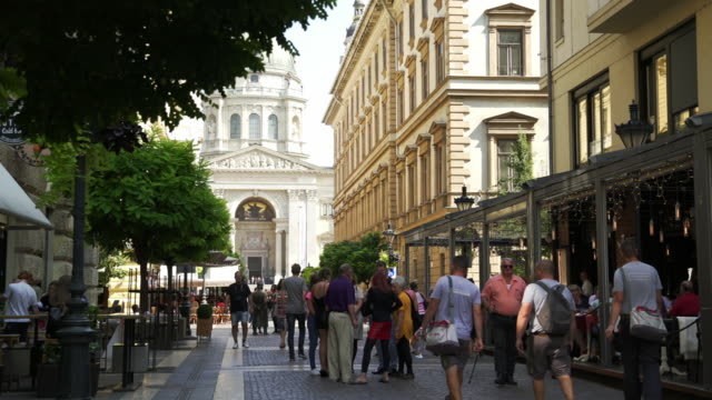 people walking in budapest zrínyi utca - budapest stock videos & royalty-free footage