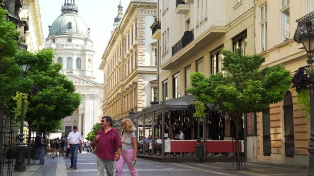 People Walking In Budapest Zrínyi Utca