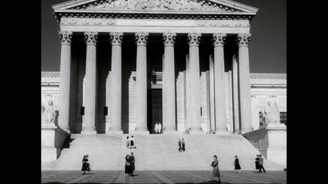 ws people walking in front of supreme court / washington dc, united states  - supreme court stock videos & royalty-free footage