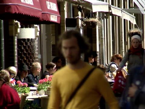 People walking in Gothenburg Sweden.
