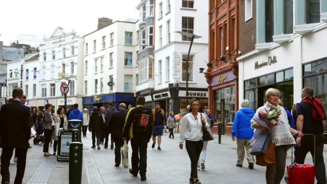 People Walking In Grafton Street In Dublin