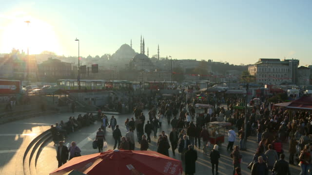 People walking in Istanbul, Turkey