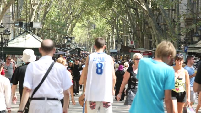 People walking in Las Ramblas - Barcelona