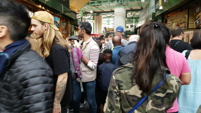 People Walking In London Borough Market