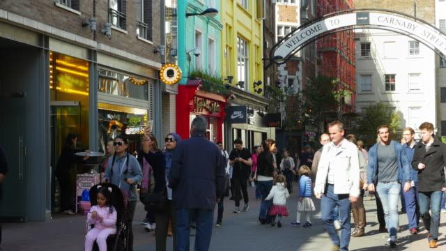 People Walking In London Carnaby Street (UHD)