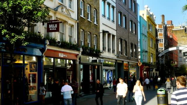 People Walking In London Carnaby Street