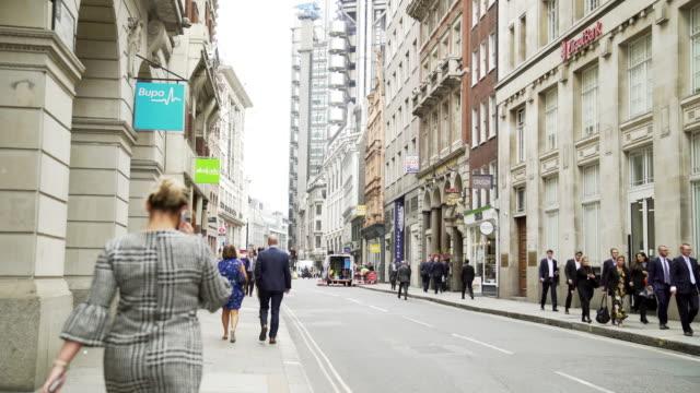 People Walking In London Cornhill