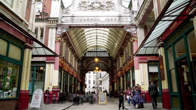 People Walking In London Leadenhall Market
