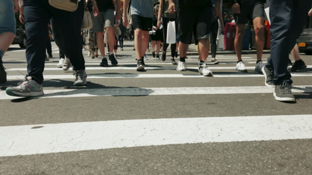 people walking in new york city - pavement stock videos & royalty-free footage